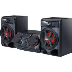 lg »ck43« stereoset (bluetooth, fm-tuner met rds, 300 w) zwart