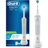oral b elektrische tandenborstel vitality 100 crossaction wit, 1 opzetborsteltje wit