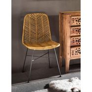 couch ♥ rotanstoel rotan vintage (set, 2 stuks) beige