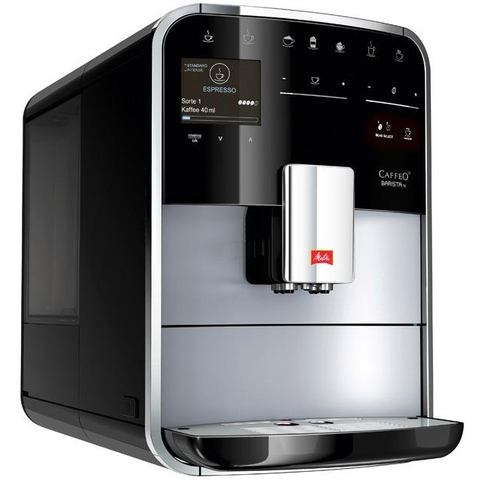 Melitta volautomatisch koffiezetapparaat Melitta®CAFFEO Barista TS Smart® F85-0-101, zilver-zwart