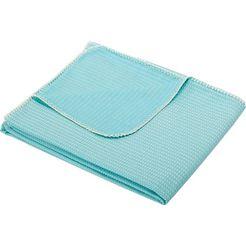 biederlack deken zwerflust met een fijn patroon blauw