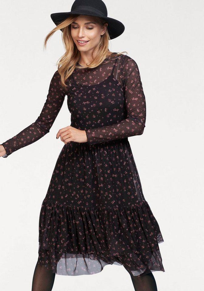 NU 21% KORTING: Aniston gedessineerde jurk zwart