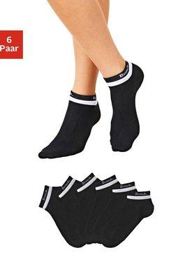 bench korte sokken (6 paar) met dubbel verwerkte boord zwart