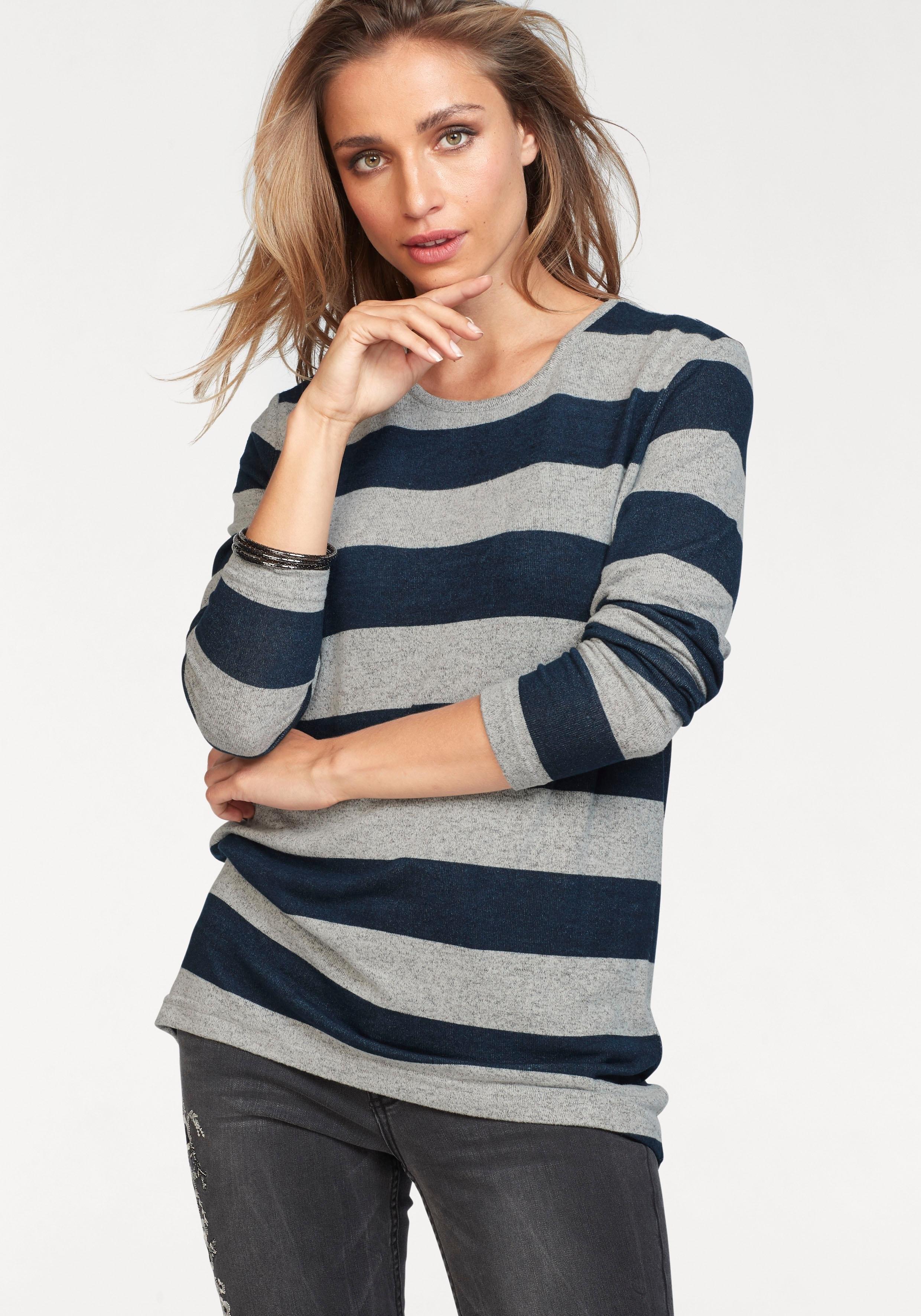Aniston By Baur Aniston trui met ronde hals voordelig en veilig online kopen