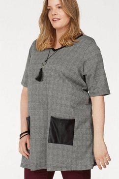 zhenzi gedessineerde blouse grijs