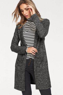 aniston casual vest in een lang model grijs