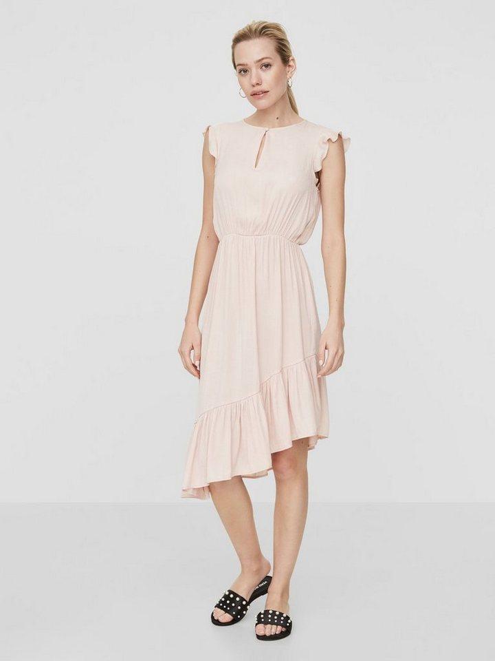 Vero Moda Aware ruche Mouwloze jurk roze