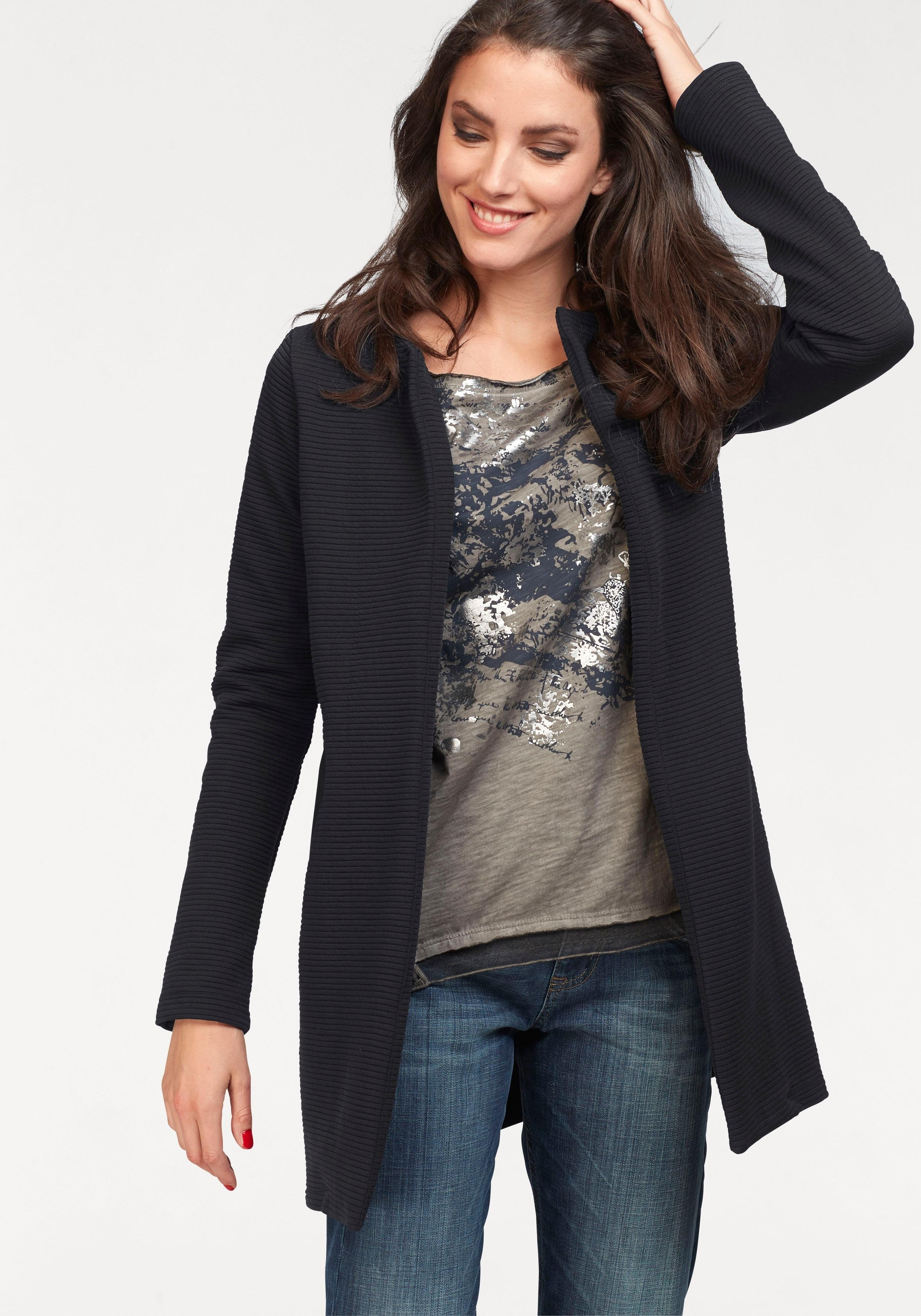 Aniston SELECTED Vivance lange blazer bij OTTO online kopen