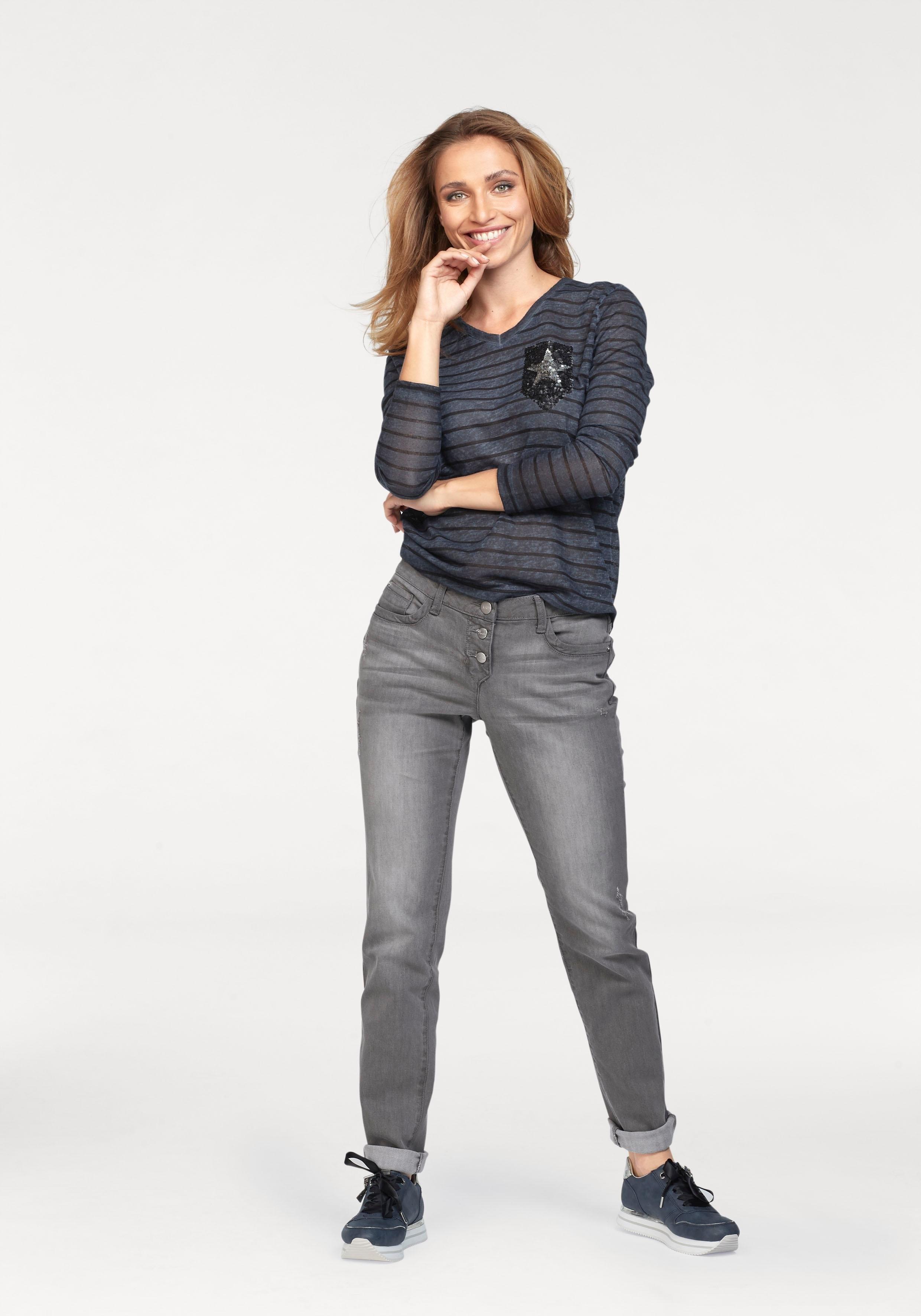 Online Lange Met Verkrijgbaar Shirt Aniston Mouwen N08nwm