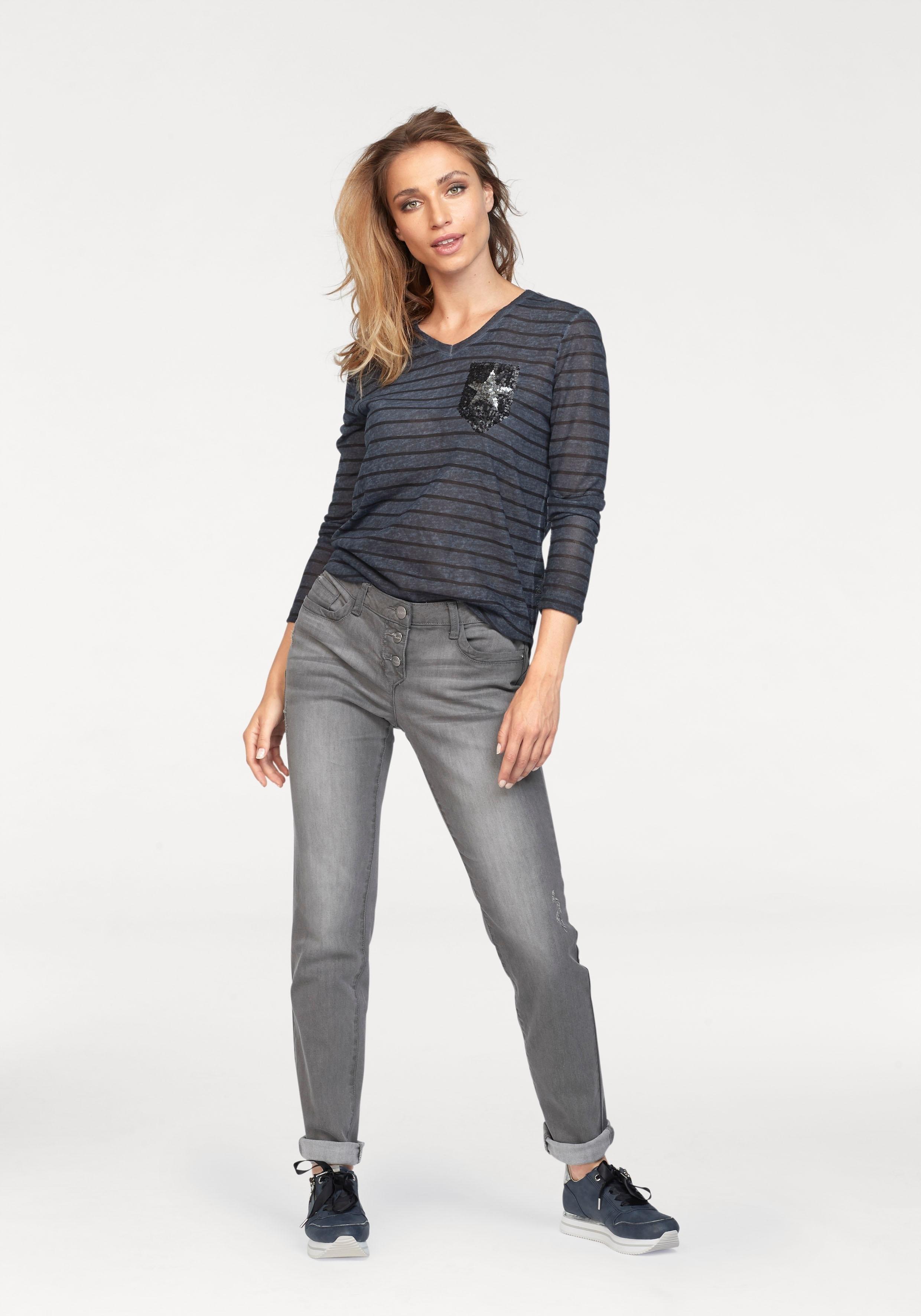 Online Shirt Verkrijgbaar Lange Met Aniston Mouwen w8knO0PX