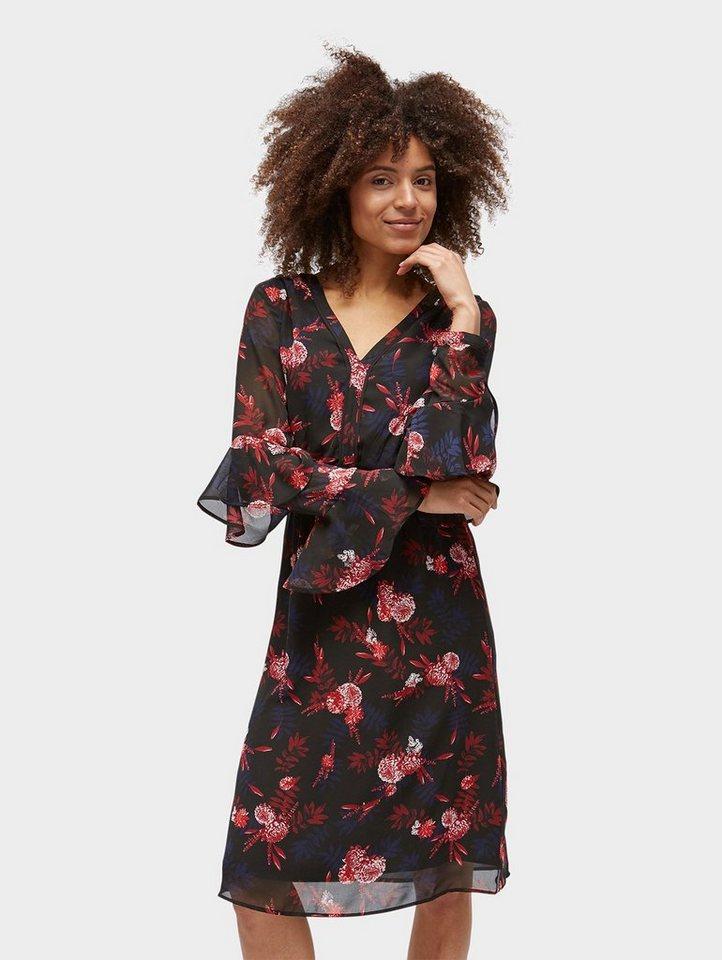 Tom Tailor chiffonjurk Naomi Campbell: jurk met gebloemd motief zwart