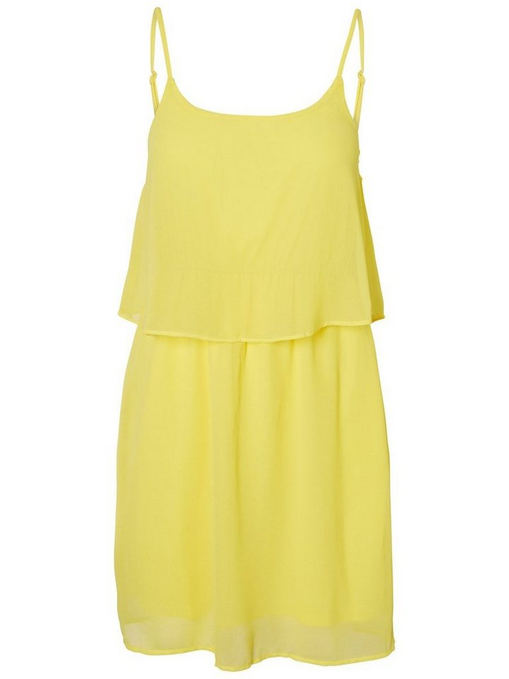 Pieces Mouwloze zomer jurk geel