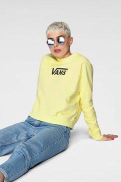 vans sweatshirt flying v ft boxy geel