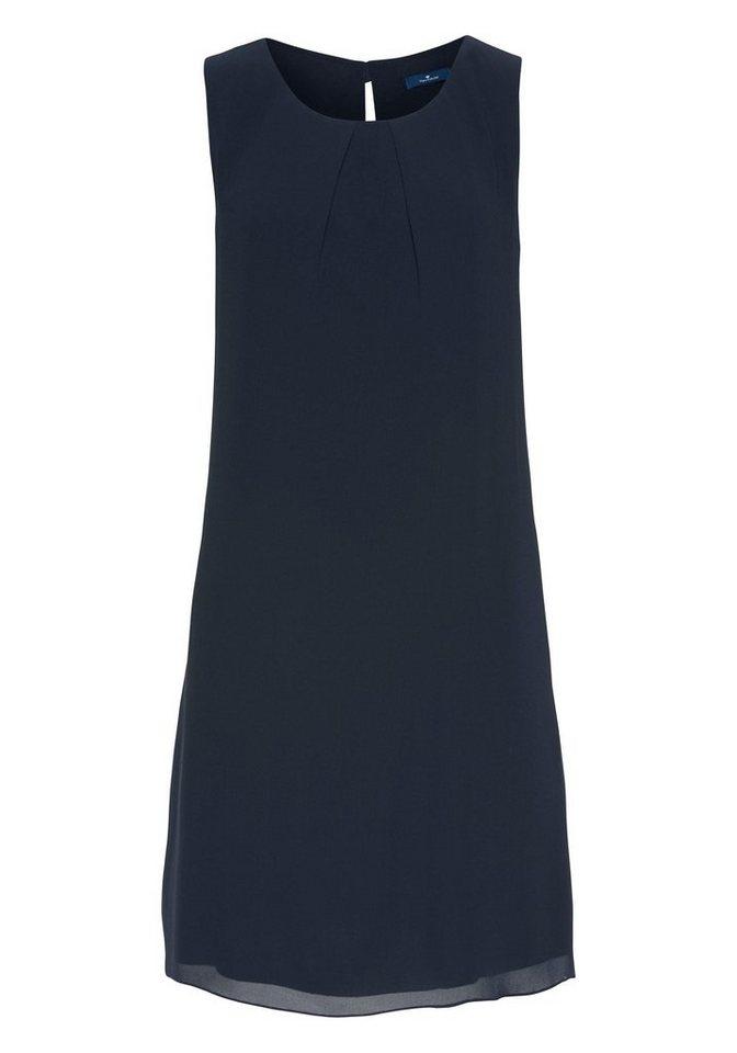 Tom Tailor gedessineerde jurk blauw