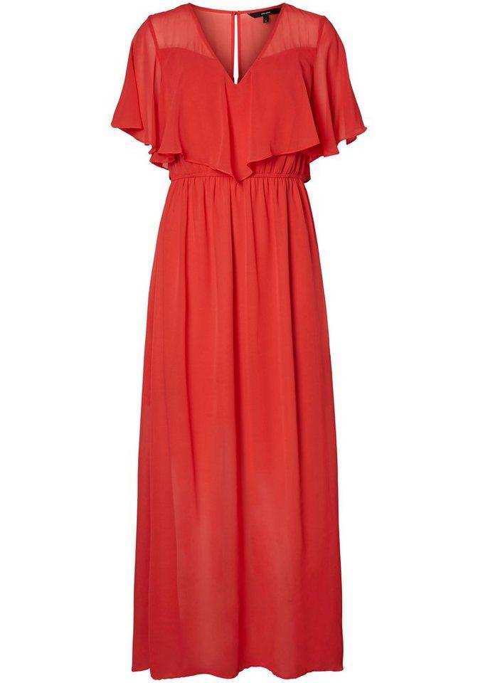 Vero Moda maxi-jurk DORA rood
