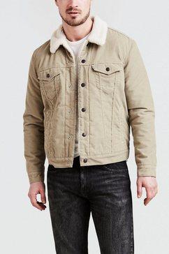 levi's jeansjack »type 3 sherpa trucker« bruin