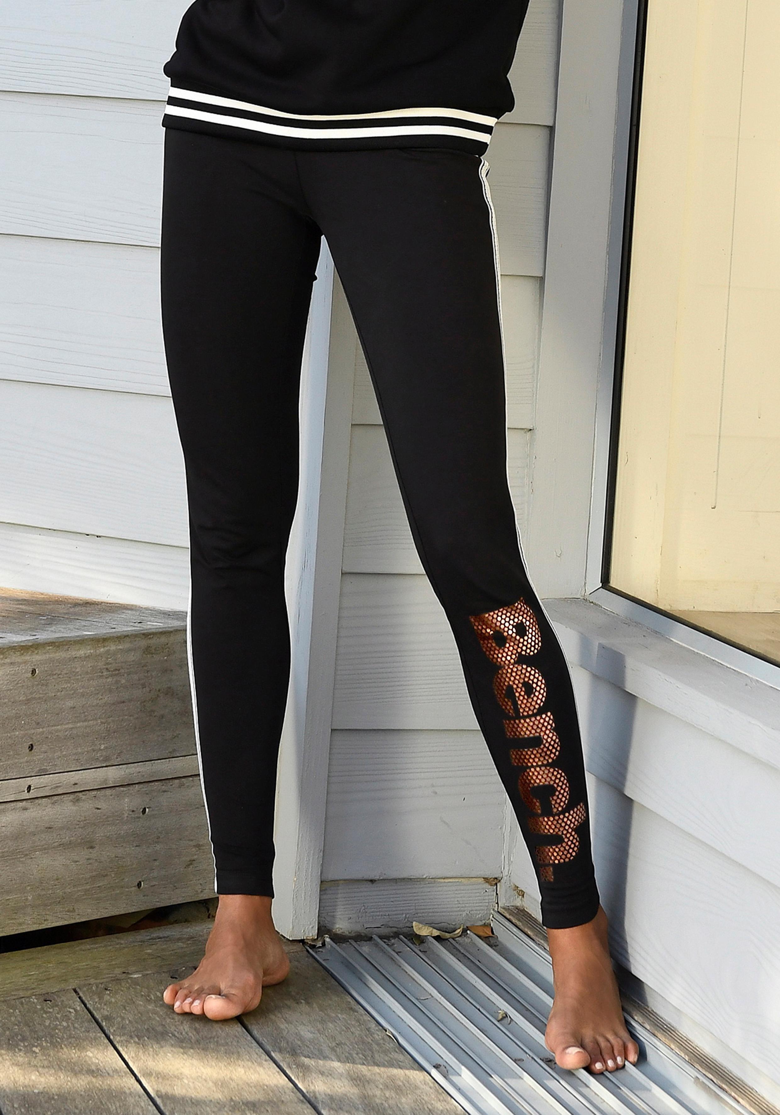 Bench. legging met logoprint in metaal-look in de webshop van OTTO kopen