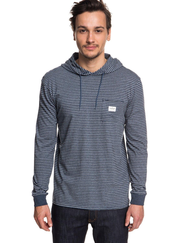 Lange Met De In Shop Capuchonzermet T En Online shirt Quiksilver Mouwen JlKcF1
