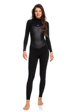 roxy wetsuit met een borstrits »3-2mm satin« zwart