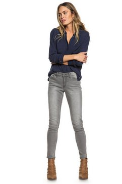 roxy skinny fit jeans »seatripper« grijs