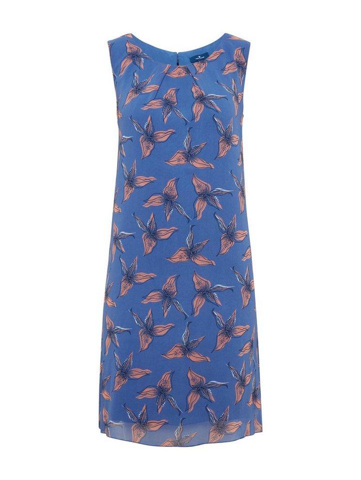 Tom Tailor zomerjurk met strik blauw