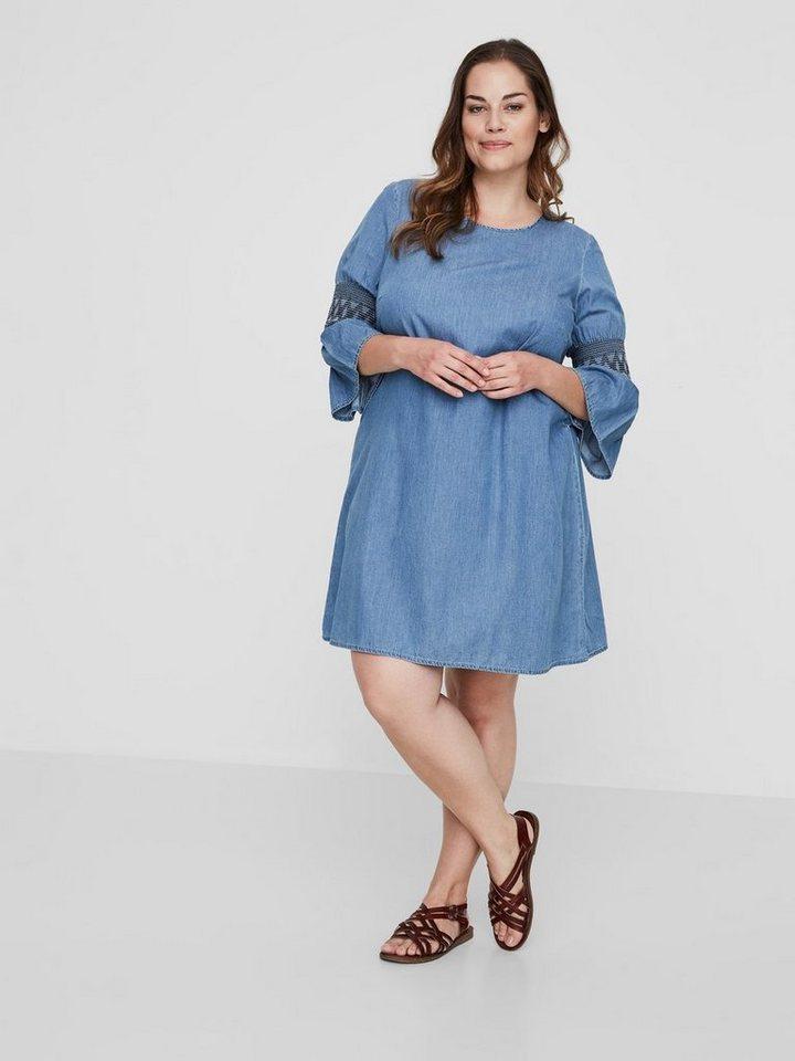 Junarose Chambray jurk blauw