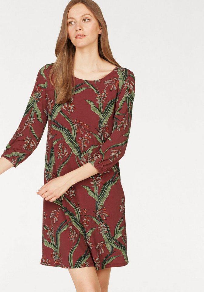 Laura Scott gedessineerde jurk bruin