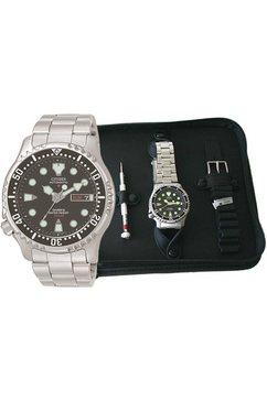 citizen automatisch horloge »ny0040-09eem« (set, 3-delig) zilver