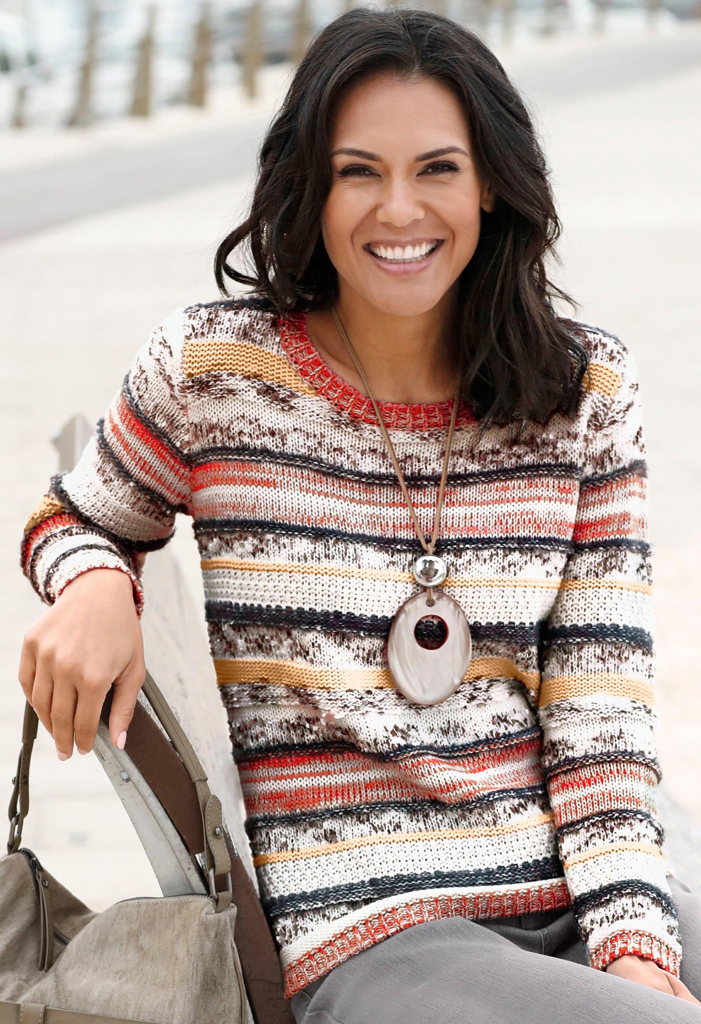 Casual Looks trui met aantrekkelijk streepdessin nu online bestellen