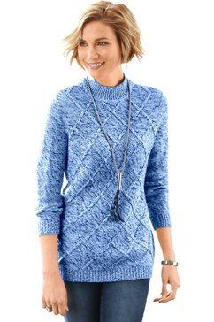 classic basics trui met staande kraag blauw