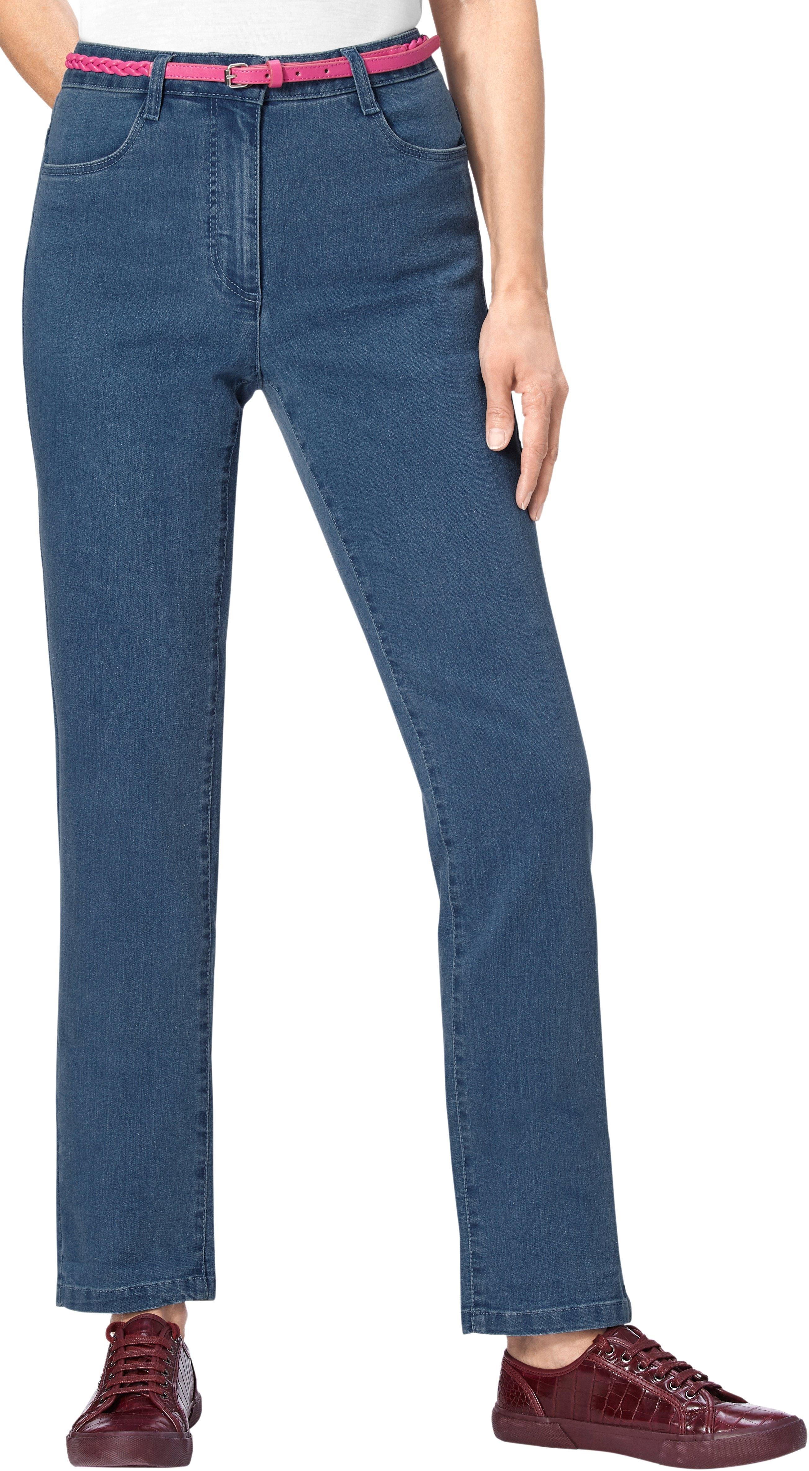 Classic Basics jeans met meerkleurig ornamentborduursel nu online kopen bij OTTO