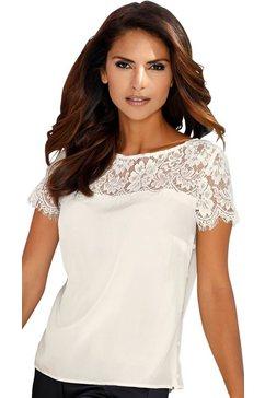 création l blouse van pure zijde wit