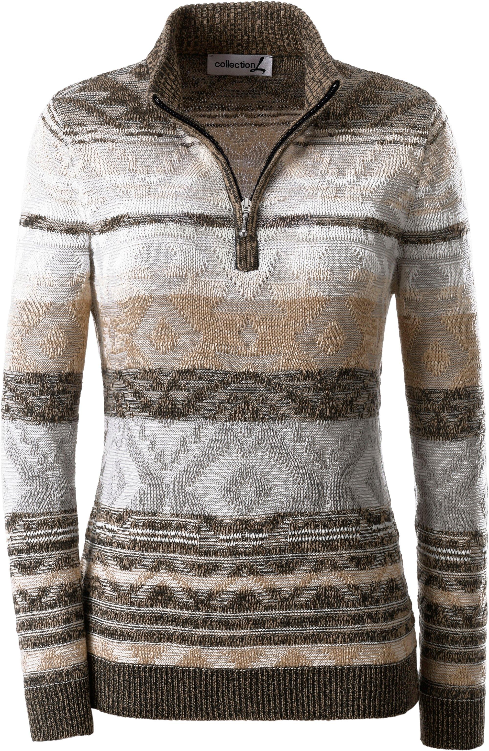 Collection L. trui met aantrekkelijk intarsiamotief bestellen: 14 dagen bedenktijd