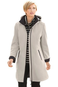 casual looks jas met fleecevoering beige