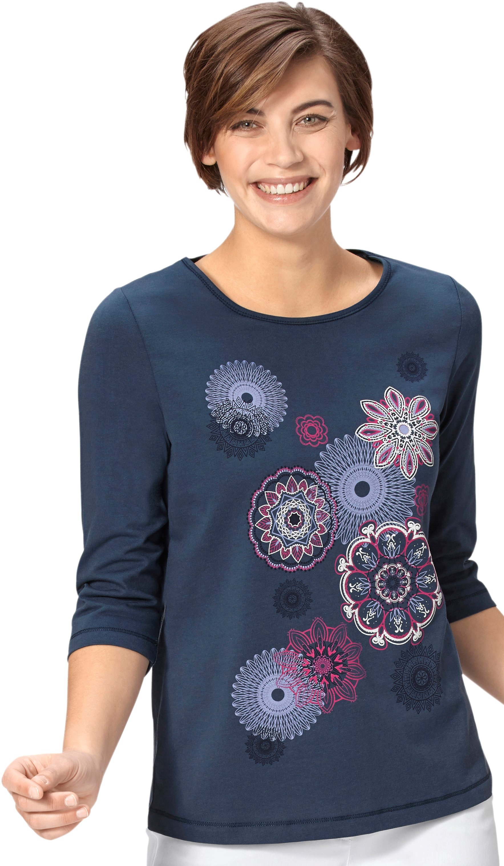 Classic Basics shirt met ornamentmotieven voor nu online bestellen