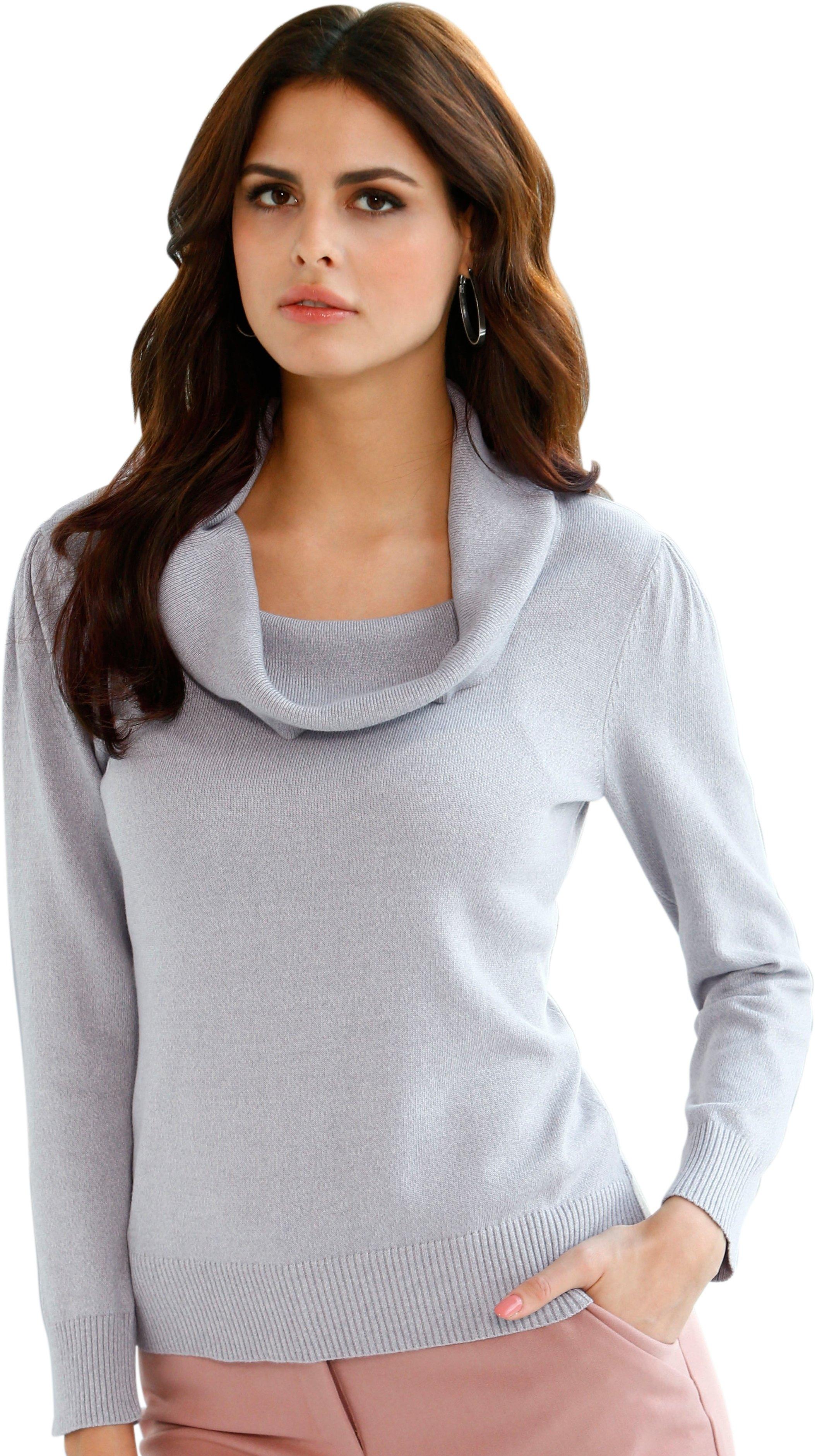 Alessa W. Lady trui met afstaande col nu online kopen bij OTTO