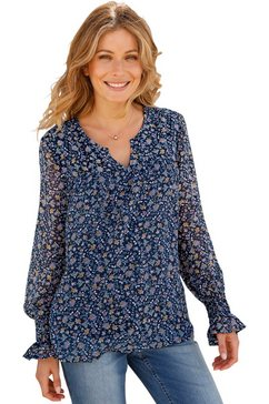 classic inspirationen blouse in chiffonkwaliteit blauw