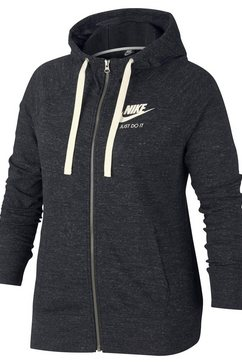 nike sportswear capuchonsweatvest »w nsw gym vntg hoodie fz ext2« grijs