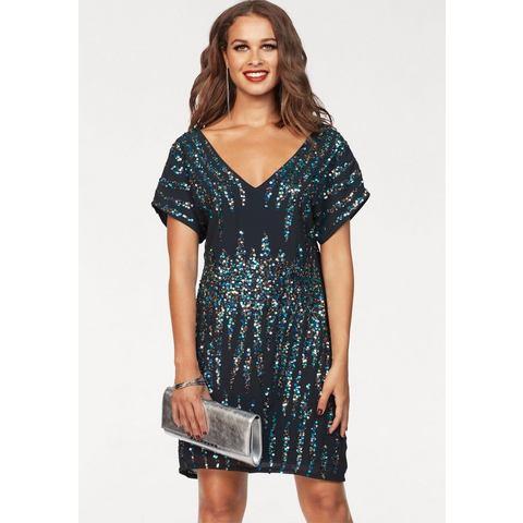 Y.A.S jurk met pailletten STRIGHTY blauw