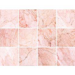 queence tegelsticker marmer roze