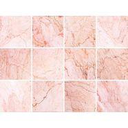 tegelsticker »marmor« roze