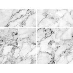 tegelsticker »marmor« grijs
