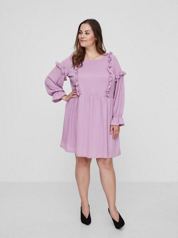 Junarose Ruche jurk paars