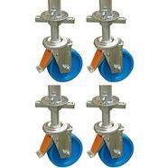 krause steigeraccessoires »climtec rijden roller set«, 4 stuk, ø 150 mm blauw