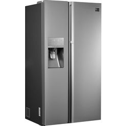 samsung side-by-side-koelkast, 177,4 cm hoog, 91,2 cm breed zilver