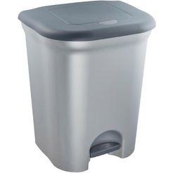keeeper pedaalemmer met 2 kamers, voor het gescheiden sorteren van afval, »torge« zilver
