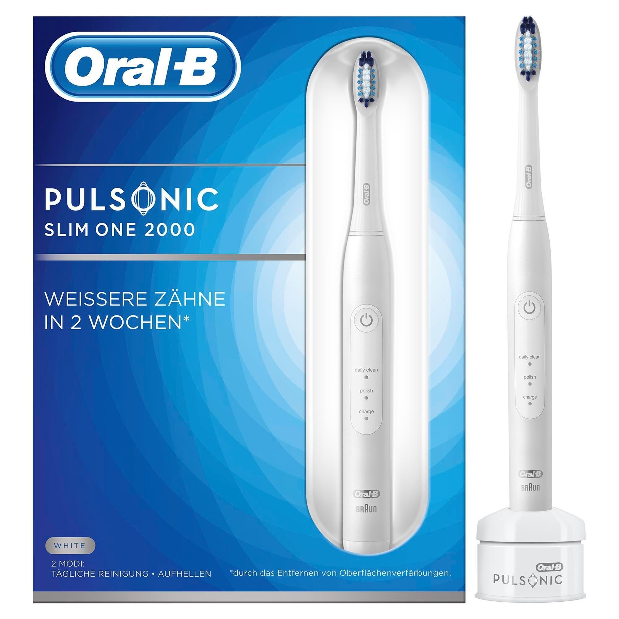 Oral-B Oral B ultrasone tandenborstel Pulsonic Slim One 2000, 1 opzetborsteltje veilig op otto.nl kopen