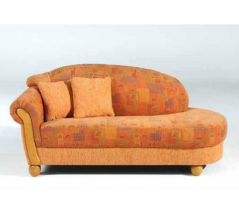 woonkamer chaise longues oranje Chaise longue met armleuning