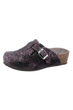 thies slippers in metallic-look roze