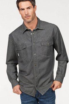 arizona jeansoverhemd westernstijl grijs